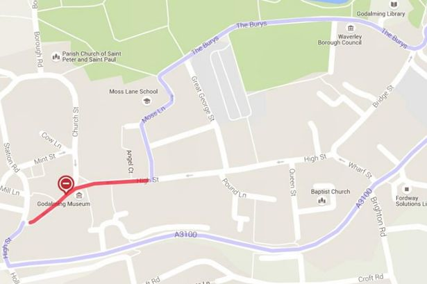 Godalming TC road closures
