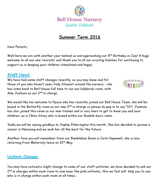 Summer term newsletter image